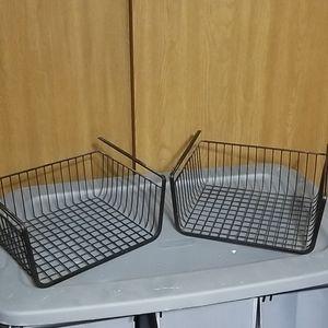 Two Under Shelf Baskets